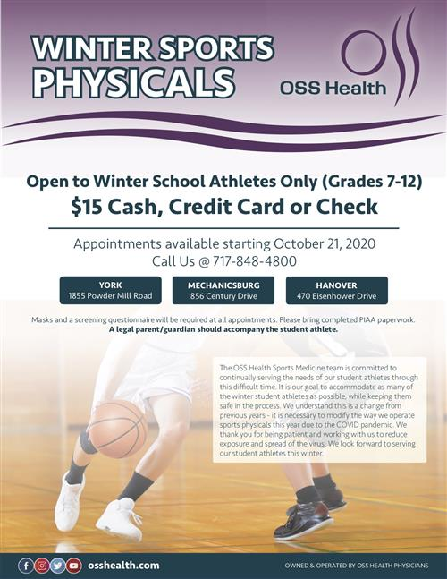 winter sports physicals at OSS
